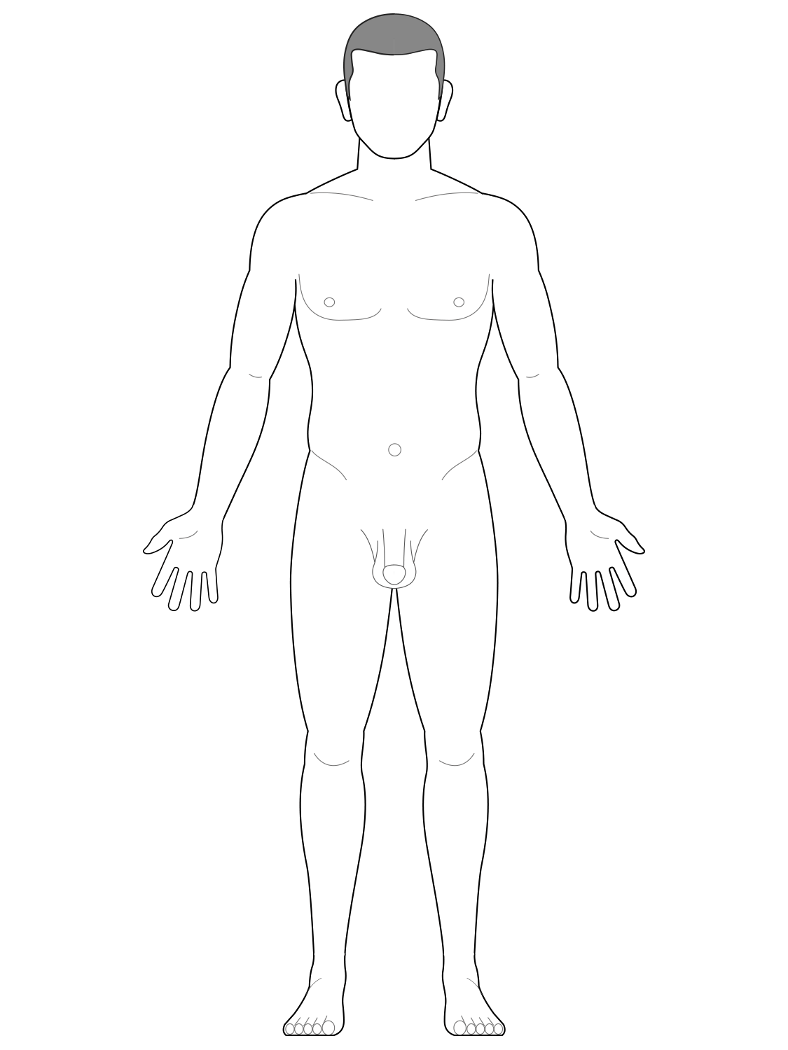 Anatomical position - male